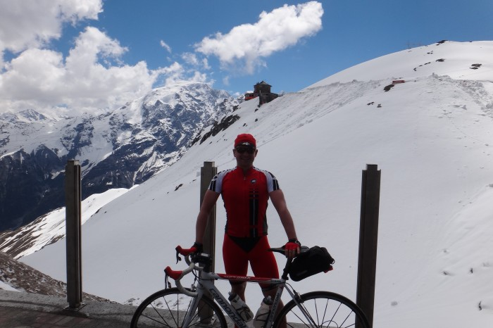 Europe - David on top of Stelvio