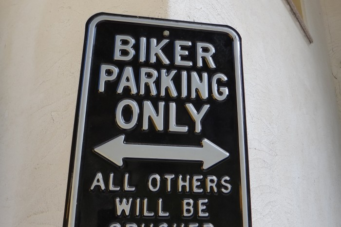 Europe - Pro-biker sign, Dolomites, Italy