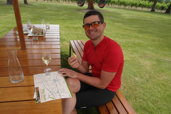 NZ 3 - 17 - Wine and cheese tasting at Cloudy Bay Winery, Marlborough