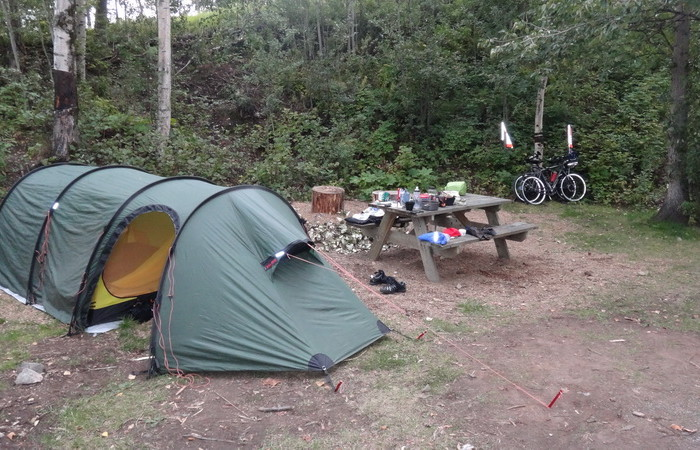 Day 1 - Our campsite at Fox Run Campground