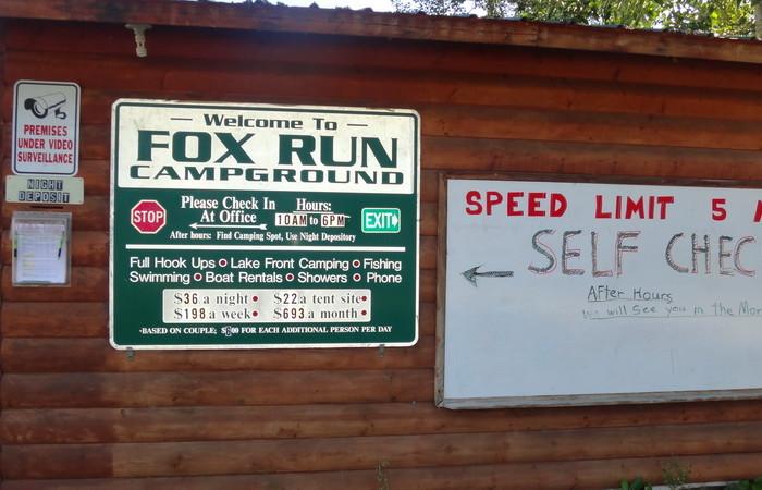 Day 1 - Fox Run Campground