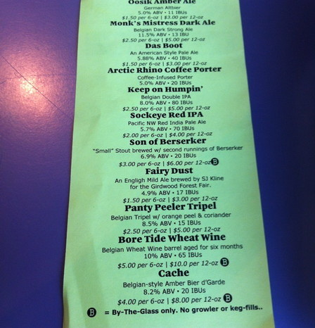 Anchorage - The Beer List at Midnight Sun Brewery