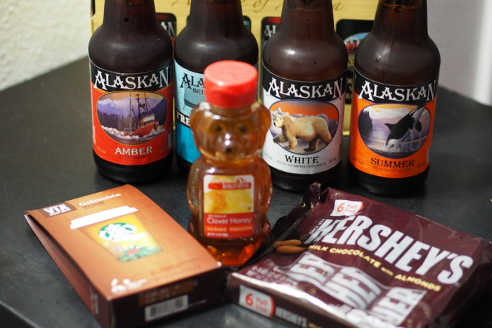Anchorage - Stocking up ahead of our departure in Anchorage - coffee, honey, chocolate and beer!