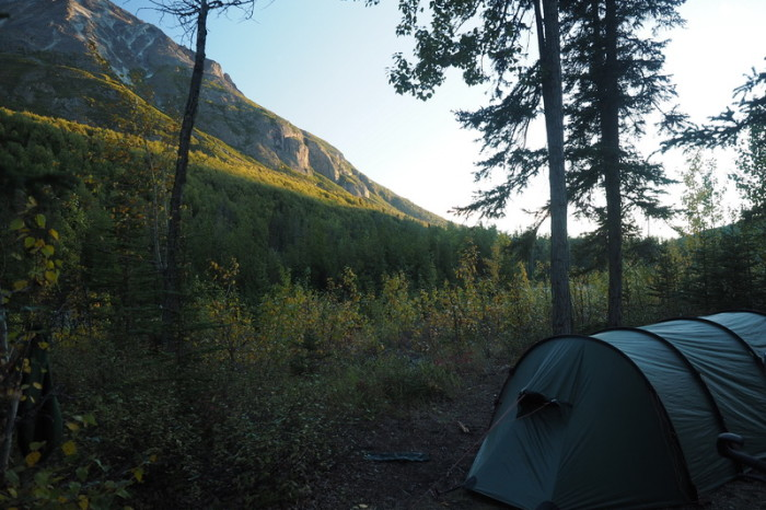 Day 2 - View of King Mountain from our campsite