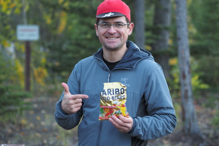 Day 2 - David was very happy to find Gummy Bears in Anchorage