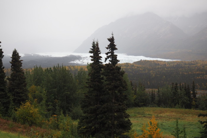 Day 3 - View of the Matanuska Glacier from our table at Long Rifle Lodge - great view!