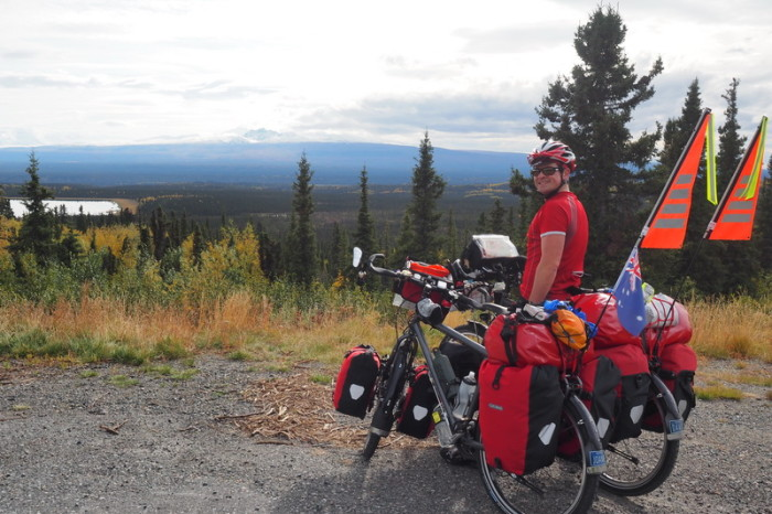 Day 8 - David looking out over the Wrangell Mountains