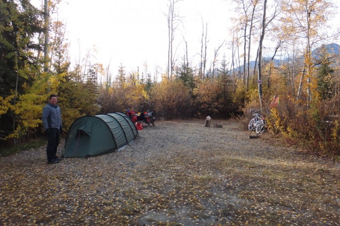 Canada 106 - Our campsite in Haines Junction