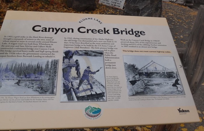 Canada 109 - Lunch stop at Canyon Creek Bridge