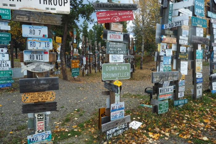 "Canada 146 - ""Signpost Forest"" at Watson Lake"