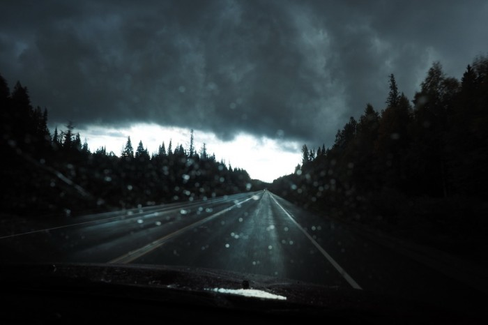 Canada 234 - Driving through a crazy storm on our way to McBride