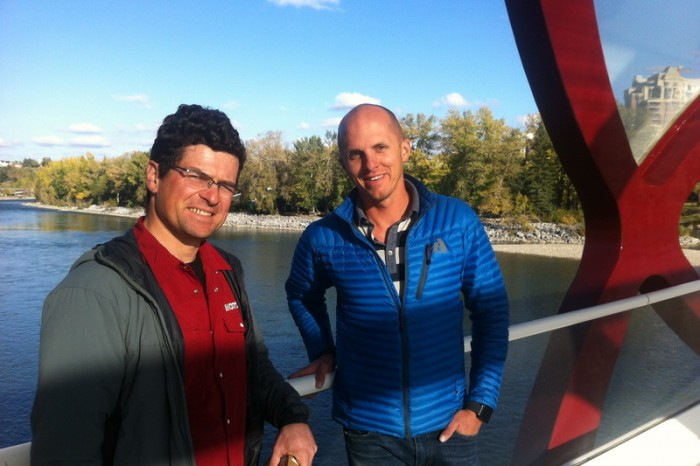 Canada 347 - David and Scott on Calgary's Peace Bridge
