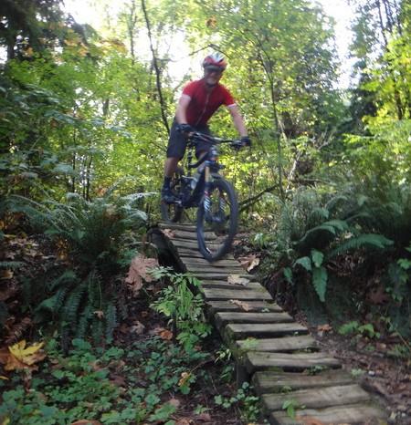Vancouver - David mountain biking near Vancouver
