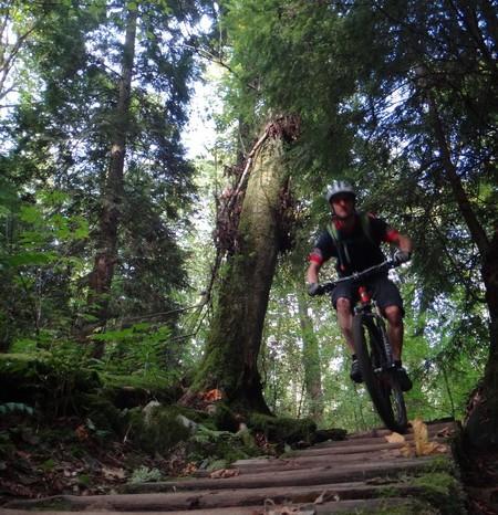 Vancouver - Steve mountain biking near Vancouver