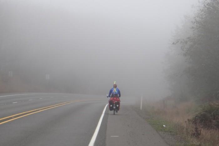 Olympic Peninsula - Foggy mountain climb