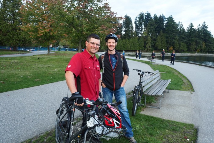 Vancouver - Steve and David at Stanley Park