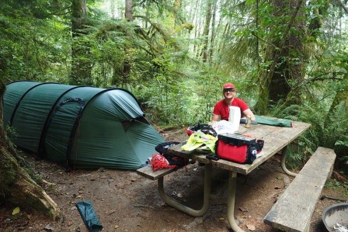 Olympic Peninsula, Washington State - Our campsite at Bogachiel State Park near Forks