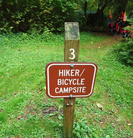 Olympic Peninsula, Washington State - Special bike campsites at Bogachiel State Park