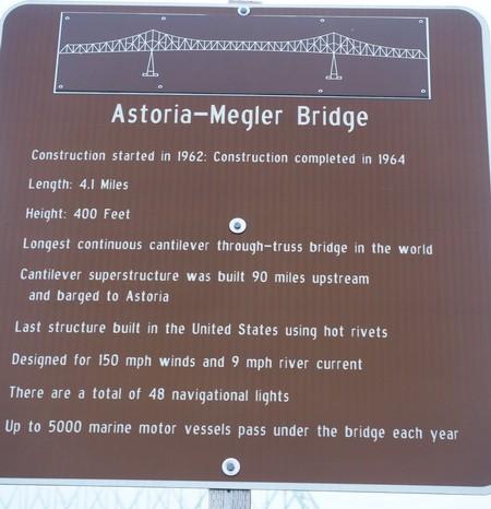 Astoria, Oregon - The Astoria Bridge - 4.1 miles long!