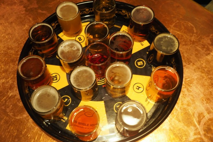 Portland, Oregon - Our beer tasting for the evening!