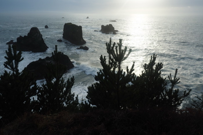 Portland to San Francisco - View from Arch Rock Picnic Area, Boardman State Park, Oregon