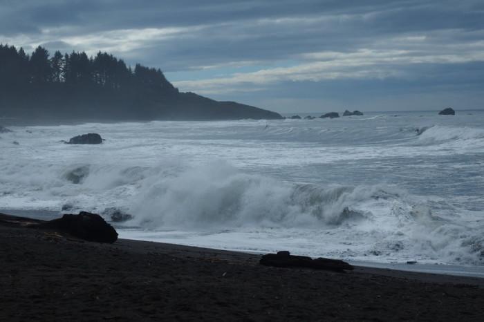 Portland to San Francisco - Californian coastline