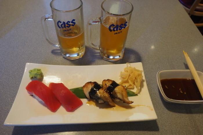 San Francisco - Enjoying some sushi in Japantown, San Francisco