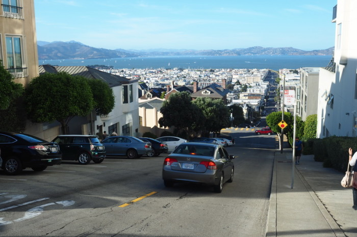 San Francisco - One of the crazy steep San Francisco streets!