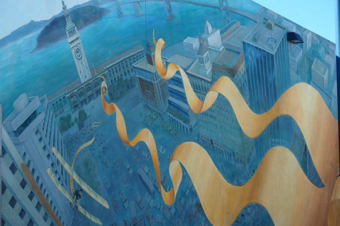 "San Francisco - Cool ""pro cycling"" street art!"