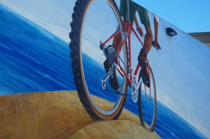 "San Francisco - Cool ""pro cycling"" street art!"