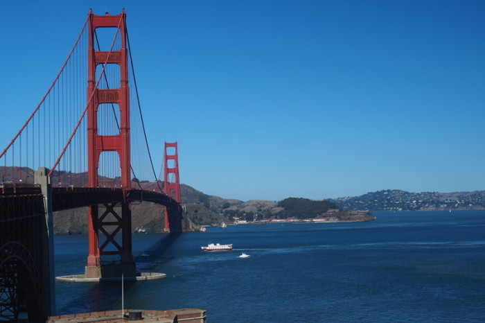 San Francisco - Biking over Golden Gate Bridge