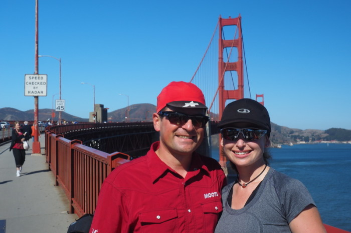San Francisco - Biking over Golden Gate Bridge