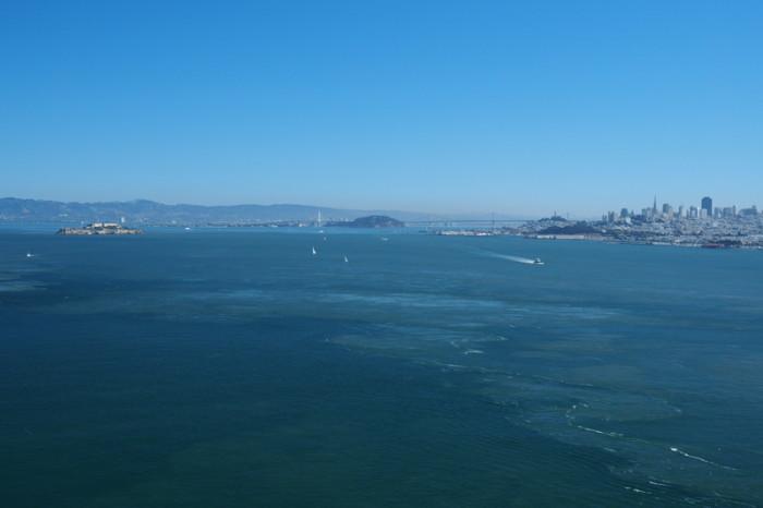 San Francisco - Views of San Francisco from the Golden Gate Bridge