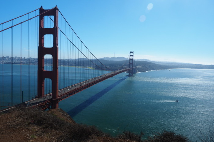 San Francisco - The magnificent Golden Gate Bridge
