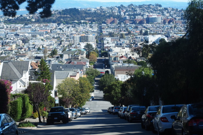 San Francisco - Another of the crazy steep San Francisco streets!