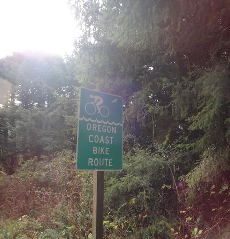 "Portland to San Francisco - The very well sign posted ""Oregon Coast Bike Route""!"