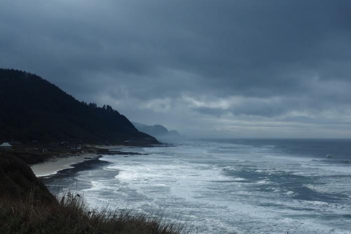 Portland to San Francisco - Misty Oregon Coast