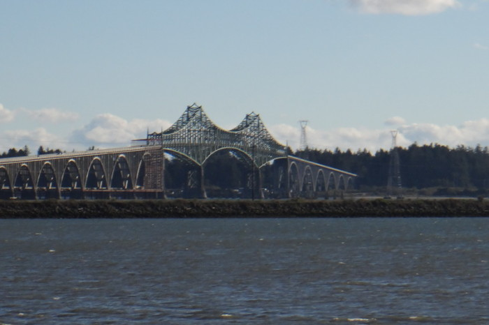 "Portland to San Francisco - The windy Conde McCullough Memorial Bridge (""North Bend Bridge"")"