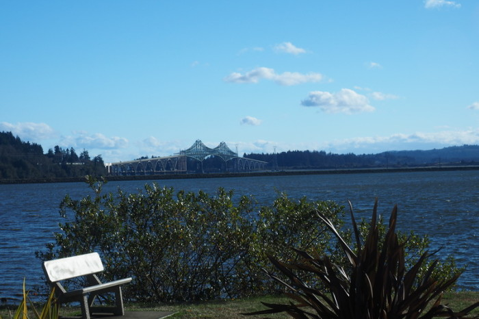 Portland to San Francisco - View of the Conde McCullough Memorial Bridge