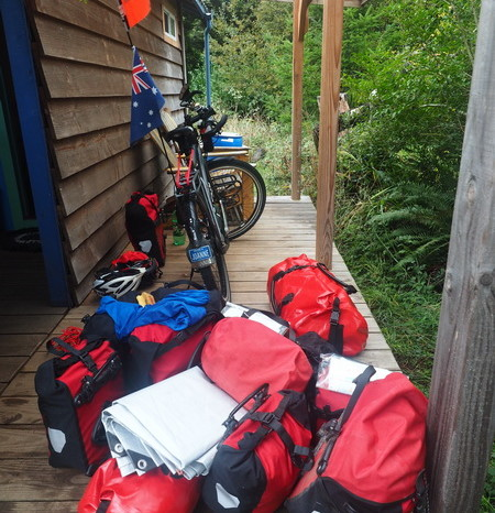 Portland to San Francisco - Our little cabin in Port Orford