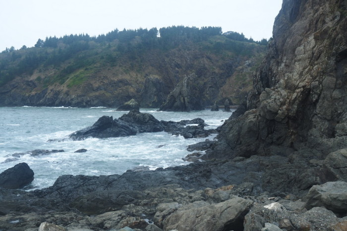 Portland to San Francisco - Views from the Harbour at Port Orford