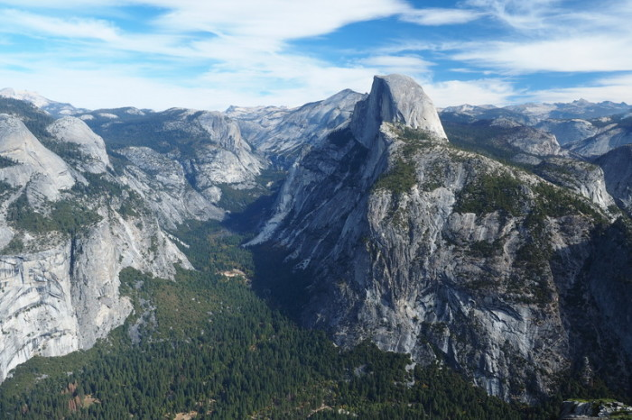 Yosemite National Park - View from Glacier Point of the Half Dome