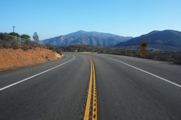 OLYMPUS DIGITAL CAMERA - The road to Tecate
