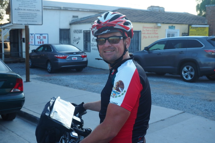 OLYMPUS DIGITAL CAMERA - David at the Tecate Mexican Border Crossing