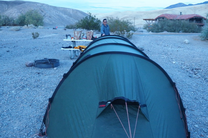 USA Road Trip - Our campsite, Death Valley National Park, California