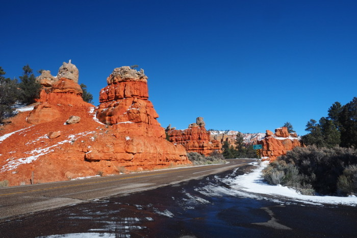 USA Road Trip - Bryce Canyon National Park, Utah, covered in snow