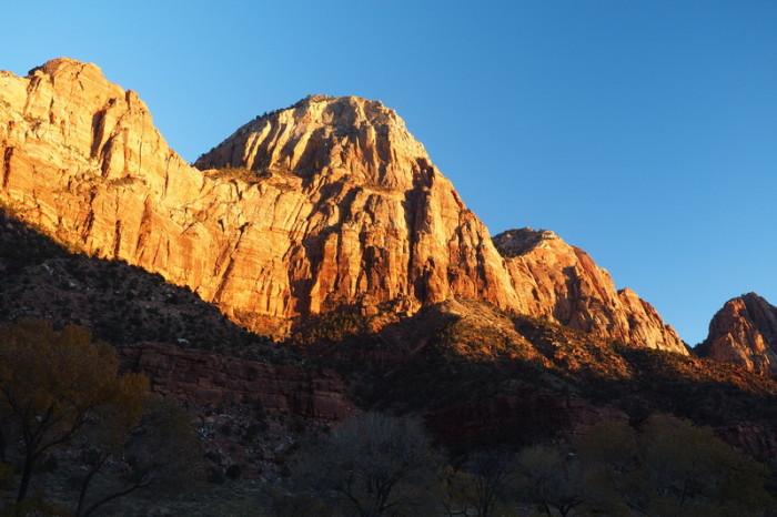 USA Road Trip - Sunset over Zion National Park, Utah