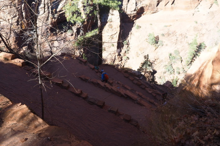 "USA Road Trip - ""The Wiggle"", Angels Landing Trail, Zion National Park, Utah"