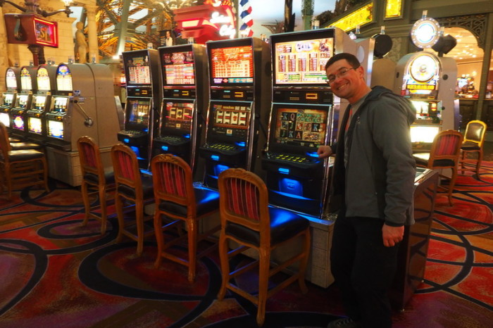 USA Road Trip - David at the Paris Casino, Las Vegas