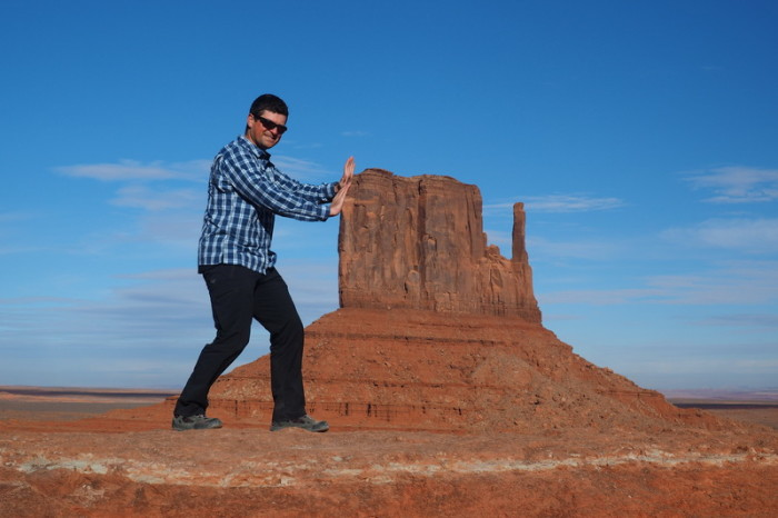 USA Road Trip - David and West Mitten Butte, Monument Valley